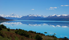 Mt. Cook Reflected in Lake Pukaki (vicki.marie) Tags: newzealand mountain lake snow reflection ice nature water landscape nikon scenic alpine nz southisland southernalps nikond40x d40x
