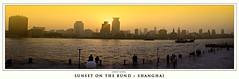 Sunset on the Bund (rahsoft) Tags: china from sunset 2004 river geotagged shanghai side taken pudong bund huangpu