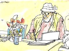 Don drawing (larosecarmine) Tags: france painting holidays don chateau lage leech baston