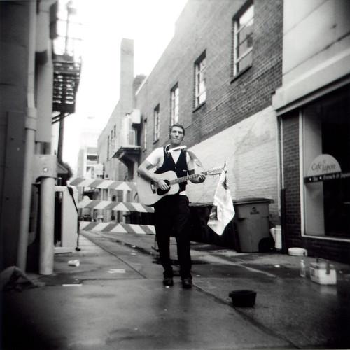 Street Musician in Alley