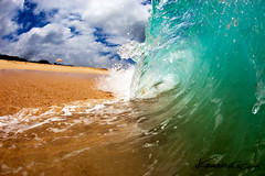 Sand Slam ( KristoforG) Tags: ocean beach hawaii sand surf pacific rip tube wave explore curl custom frontpage waterhousing
