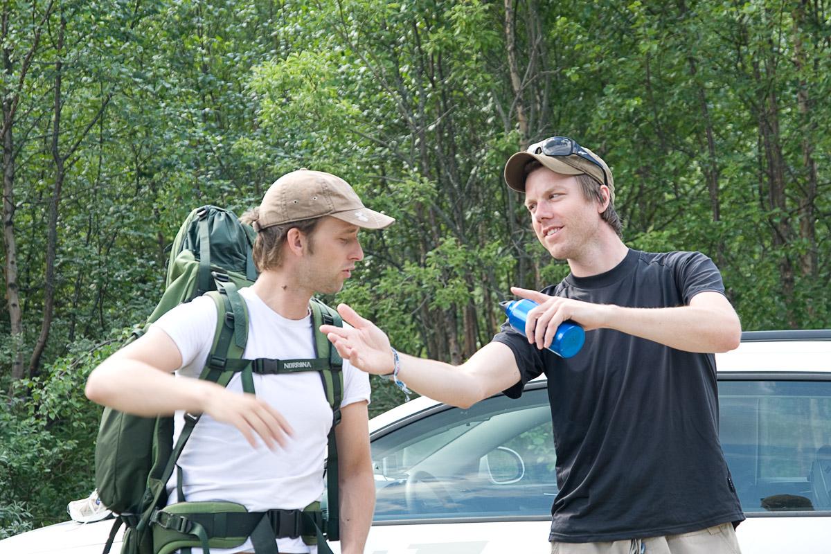 Lars og Martin diskuterer rutevalg