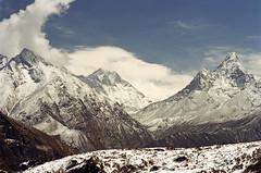 Everest ... (zsozso68) Tags: blue nepal sky cloud white snow nature canon landscape peak mount bazaar himalaya everest range lhotse amadablam namche chomolungma theunforgettablepictures lhotseshar luxtop100
