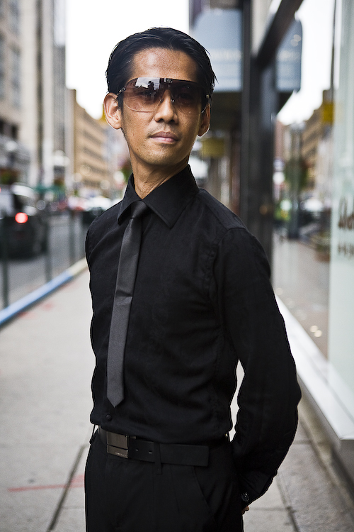All Black, Toronto Street Fashion @ Yorkville, Toronto, photo by Krist Papas, gucci, street style, whatsyourpersona