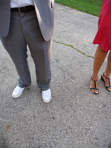 LOVING the white converse! the groom & groomsmen were all wearing them
