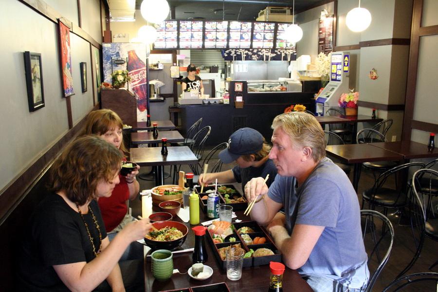 In sushi restaurant