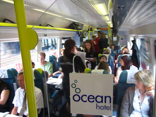 Train Chartering - Launch Group took media to Butlin's Ocean Hotel opening