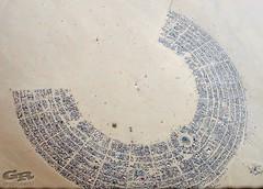 from 10,000 feet (AcroYogi) Tags: city party skyline architecture desert plan burningman blackrockcity brc blueprint 5star birdofprey romulan brc02