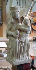 Ampleforth Madonna 10 (Craftsman1) Tags: wood sculpture abbey statue artist madonna andrew carving carver craftsman boyce craftsmanship ampleforth