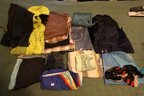 WT EQP: Clothes (mostly right/back pannier)