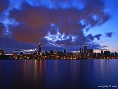 Chicago Sunset Drama (iCamPix.Net) Tags: sunset chicago canon landscape illinois professionalphotographer downtownchicago cookcounty markiii1ds