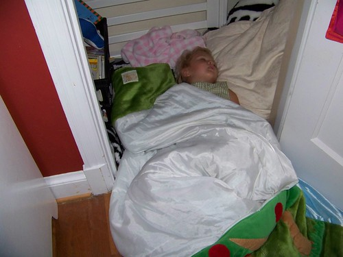 Sleep in the closet