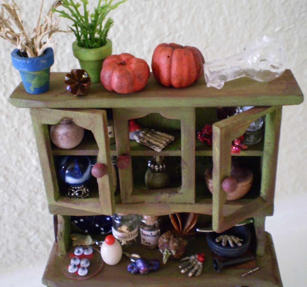 Preparation for The Winter Larder Witch Enchanted Cabinet