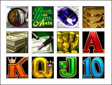 free Break da Bank Again slot game symbols