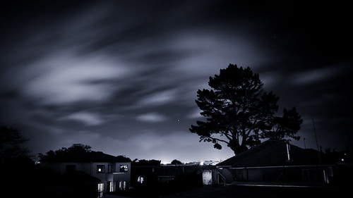 Black and White Long Exporsure Clouds - Auckland New Zealand