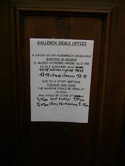 Galleria degli Uffizi ... CLOSED (strenck) Tags: florence uffizi