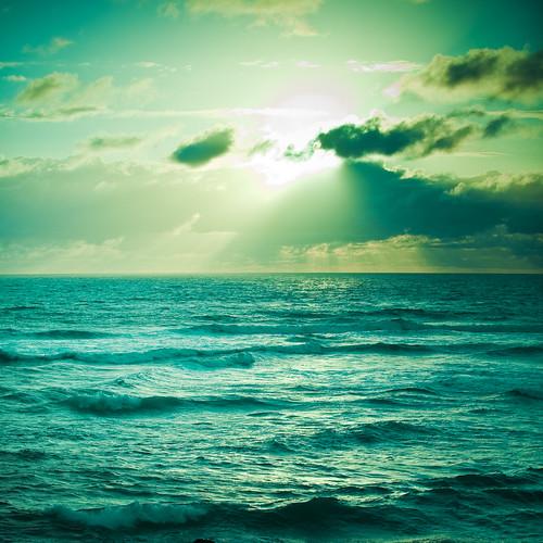 ocean water sunset. sea / ocean / water ripple