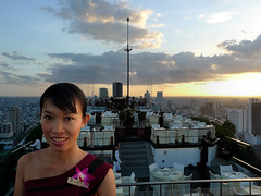 Welcome at Vertigo restaurant in Bangkok (Bn) Tags: topf50 bangkok champagne metropolis cocktails wines lumphinipark touchthesky banyantreehotel amazingview haveadrink 50faves moonbar romanticdinner panoramicviews vertigorestaurant vertigogrillmoonbar frescorestaurant weatherpermitting 5starluxuryhotel vertigogrillrestaurant elevated61thfloors metropolisbangkok thaiwahiitower openairbarcumrestaurant rooftopon62thfloor openairrooftoprestaurantbarlounge barbecuedseafood hostesssuritawa 62thfloor