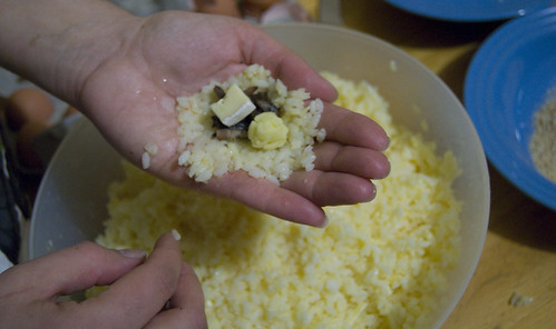step 3 put filling and cheese onto rice