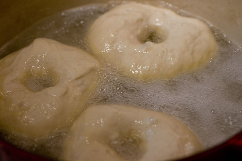 boiling bagel dough
