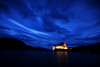 Eilean Donan Castle, Skye and Lochalsh. (freeskiing) Tags: longexposure blue autumn sea mountains castle water clouds scotland twilight september explore westcoast gloaming lochduich eileandonancastle dramaticcloud highlandsofscotland benthorburn