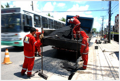 Operação Tapa Buraco - Foto: Passarinho/Pref.Olinda