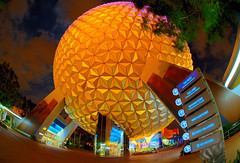 The Spaceship Earth Experience (Jeff_B.) Tags: orlando epcot 1982 florida wed disney fisheye disneyworld wdw waltdisneyworld buckminsterfuller epcotcenter hdr magickingdom worldsfair waltdisney spaceshipearth imagineering sse perisphere communicore saariysqualitypictures