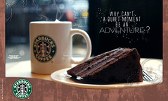 STARBUCKS ... (Bally AlGharabally) Tags: london coffee cake october photographer designer chocolate ad starbucks kuwait coffeehouse 2009 rai advertisment largest bally gharabally algharabally