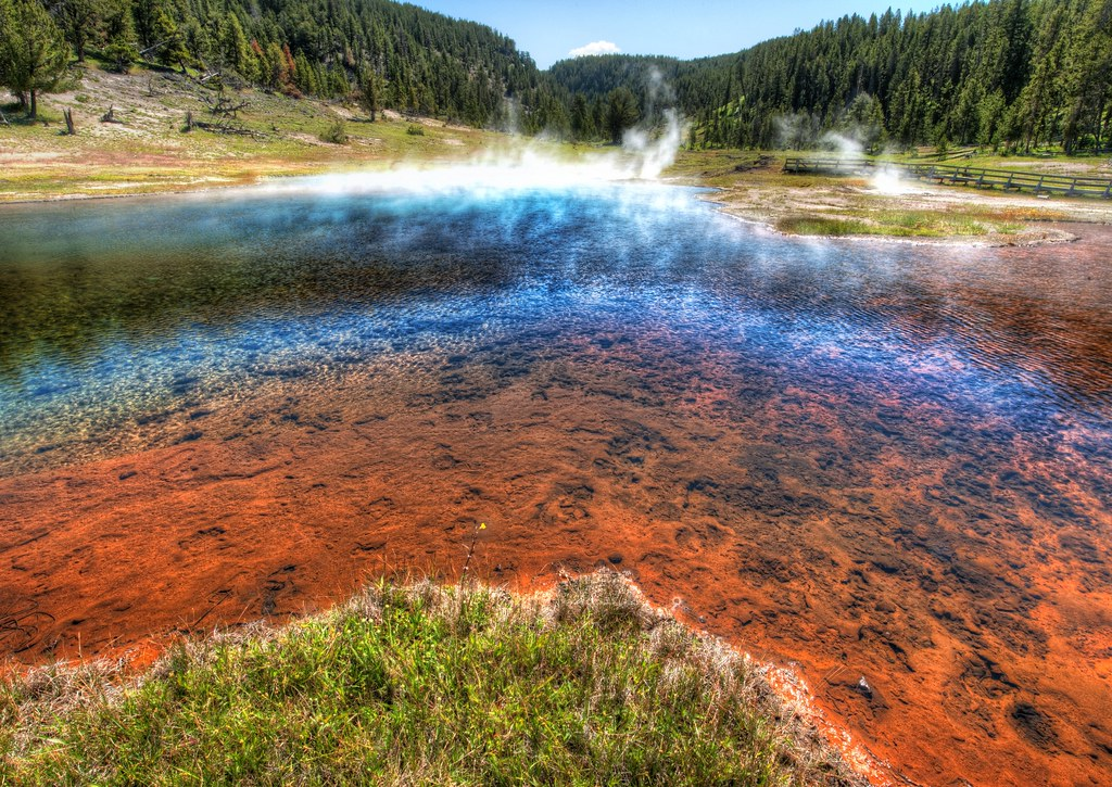Fire Lake in Yellowstone