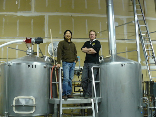 Daniel Lee (Owner) and Brian Taft (Brewmaster) of the new Odin Brewing Company in Seattle.