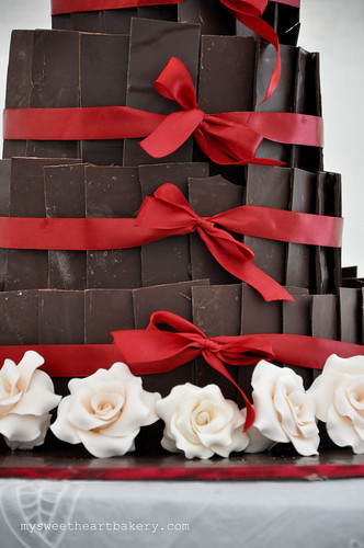 Chocolate Rum Wedding Cake