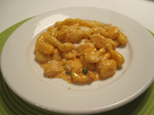 Gnocchi with tomato and capers cream sauce I made