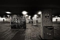 Urban Entanglement (aha42   tehaha) Tags: people urban bw norway architecture norge bergen danmarksplass noreg sigma1020 nikond60 overtheexcellence colorefexpro30 nikoncapturenx2 webfgsizel