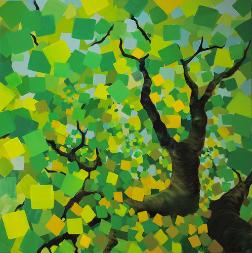 Summer Trees (Green Square)