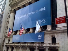 NYSE Juniper Networks Sign (junipernetworks) Tags: security it networking juniper nyse newyorkstockexchange routers cio switching junos informationsystems professionalservices netscreen junipernetworks mobilesecurity newnetwork networkingsecurity thenewnetwork routingsoftware routinghardware trustedmobility networkingsystems