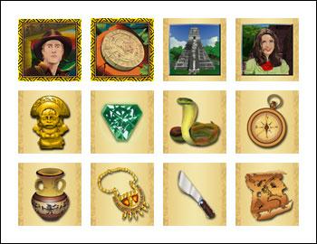free Hidden Riches slot game symbols