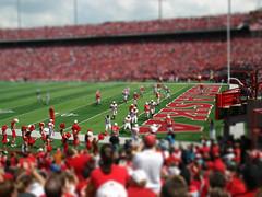 Cornhusker Spring Game (Icedavis) Tags: red college miniature football big memorial nebraska flickr stadium go fake shift lincoln tilt cornhuskers