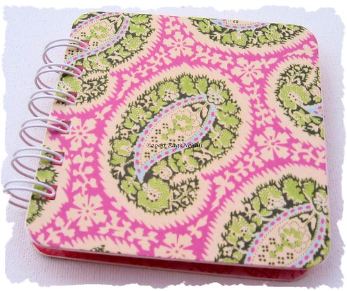 Paisley Pink/Green Amy Butler Post It Holder