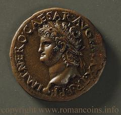 Nero Roman coin obverse
