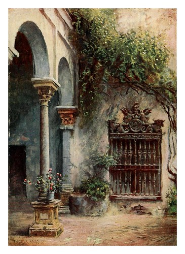 007-Sevilla Casa de Pilatos-Southern Spain 1908- Trevor Haddon
