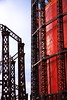 Gasometer Red and Blue (ChodHound) Tags: gasometer moo1 kensalgreencemetery