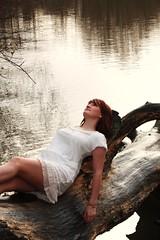 Dream World (Verity Rosamond) Tags: winter white lake log model auburn redhead relaxed