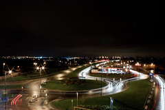 Long exposure | Ikea roundabout (.:shk:.) Tags: uk longexposure nightphotography light england ikea canon trail gb oldham karim shk eos500d canoneos500d digitalrebelt1i shkarim sogir sogskarim canoneos500dshkarim sogskarimsogirkarim