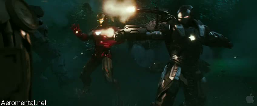 Iron Man War Machine battle