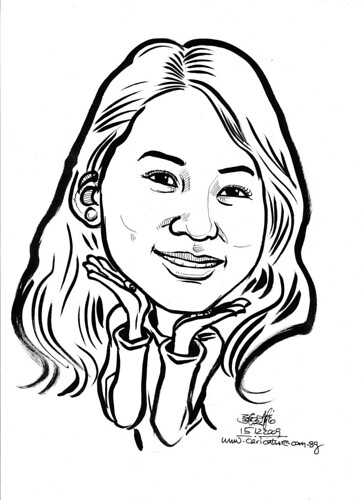 Caricature in ink for Leaf -6