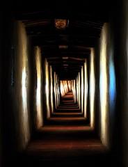 Tunnel of shadows and  light (Tati@) Tags: light shadows darkness tunnel umbria tati castigliondellago artofimages annatatti bestcapturesaoi