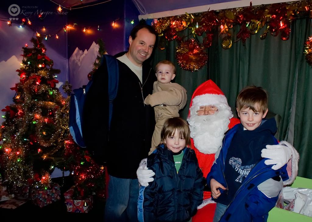 My boys and Santa