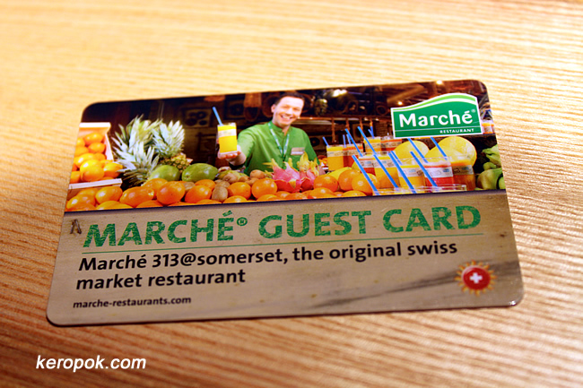 Marche Guest Card - 313 @ Somerset