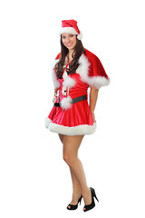 Santa's Sexy Helper Full Length (gbrummett) Tags: christmas sexy beautiful gorgeous babe victory bmw brunette pinup canon5dmarkii canonef85mmf12liiusmlens sexysantashelper