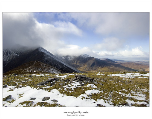 The MacGillycuddy's Reeks from Cnoc an Bhráca
